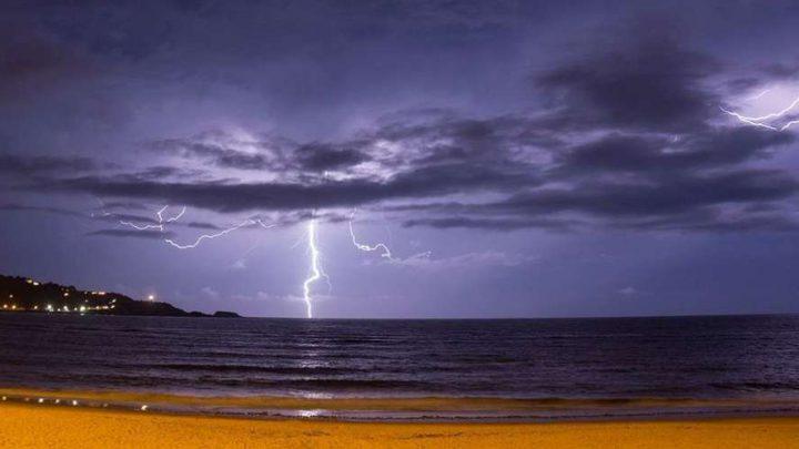 Hendaye (64) sous l'orage ! Une photo d'un internaute SUD OUEST